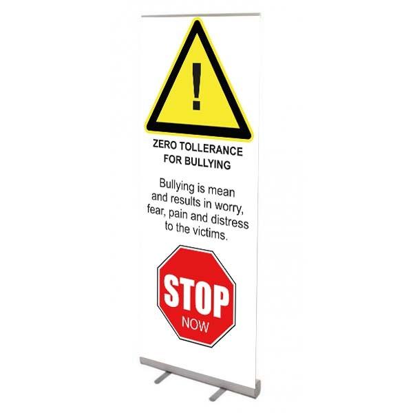 School Banner Stand - Zero Tolerance Bullying