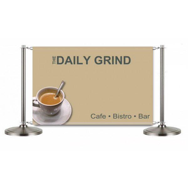 Custom printed Cafe banner
