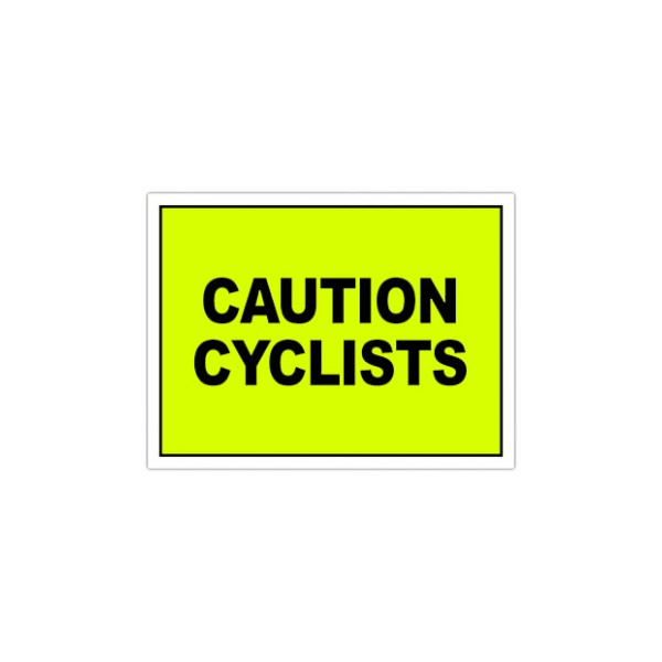 Caution Cyclists Event Sign