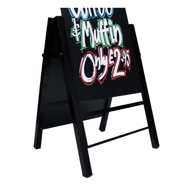 Slide in chalk board panel