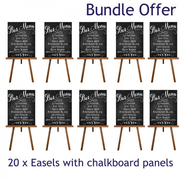 10 Chalkboards and easels