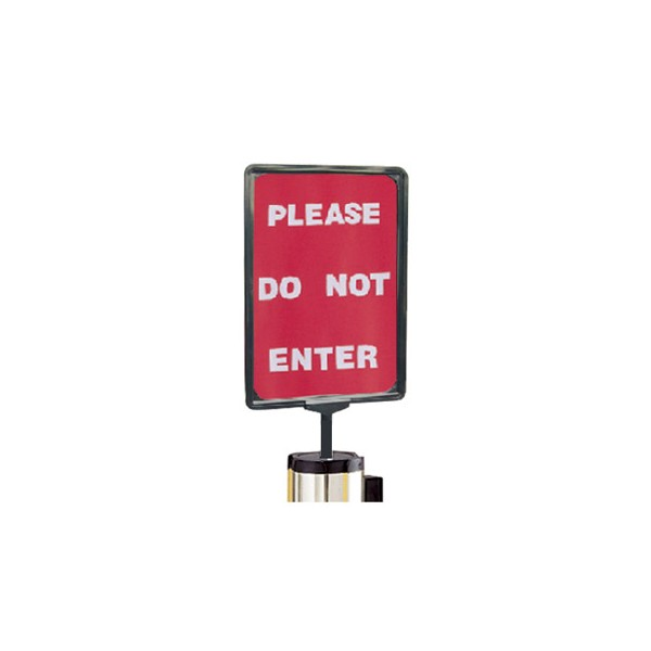 Sign Holder for Retractable Barriers