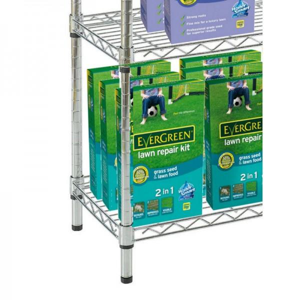 modular chrome shelves