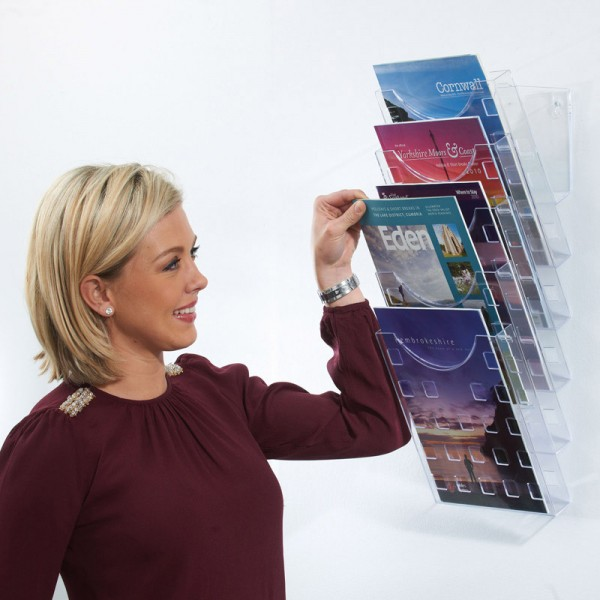 Wall Mounted Clear Literature Dispenser
