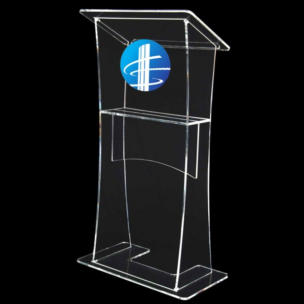 Perspex Lectern - Small logo