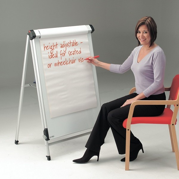 Fully Height Adjustable Flip Chart