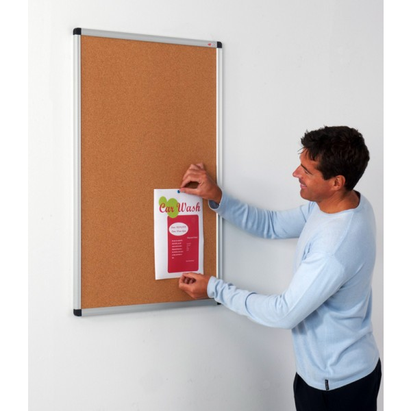 Pin cork notice board