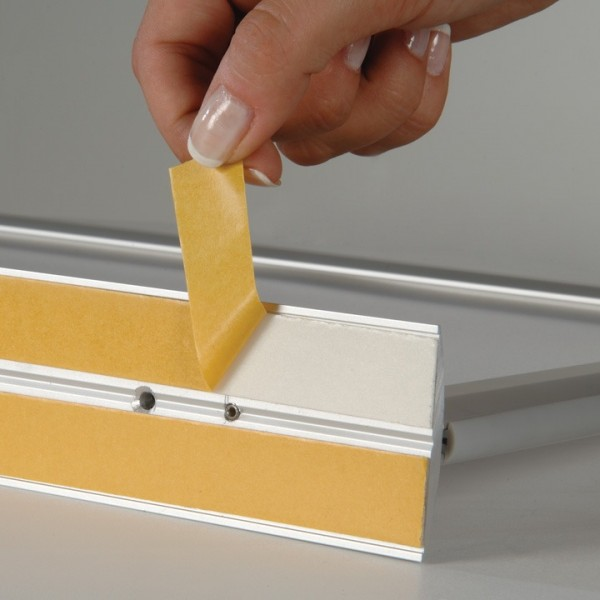 Double sided tape on base for stability