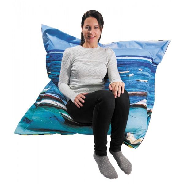 Custom printed beanbag