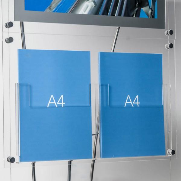 2 A4 acrylic pockets