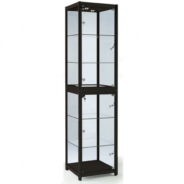 Folding Display Cabinet - Black
