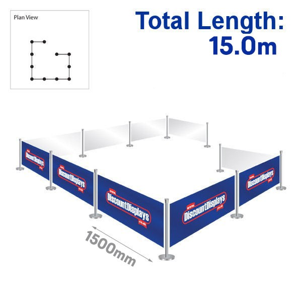 Outdoor Cafe Screens Kit 10 Banners / 11 Posts