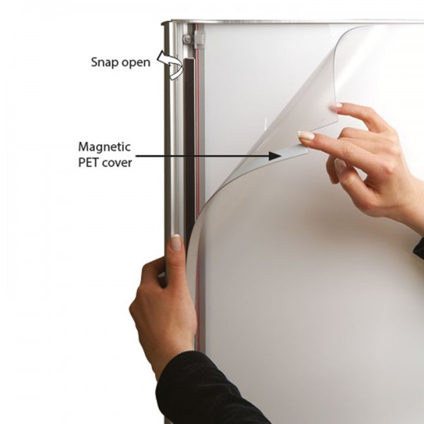 Snap frame for easy poster changing