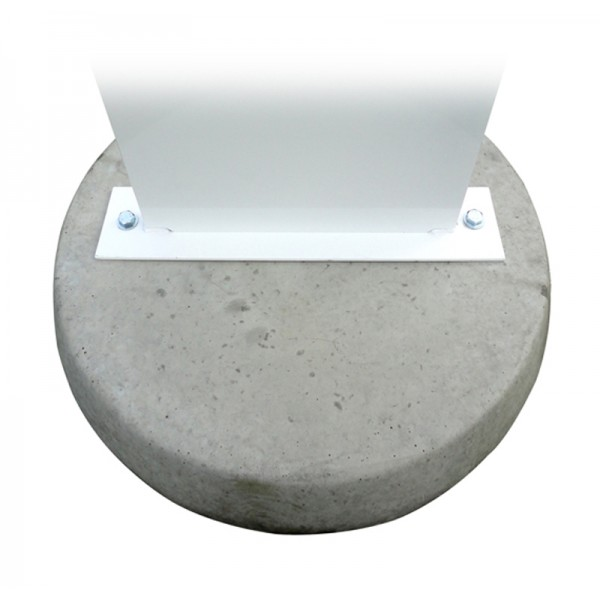 Solid concrete base