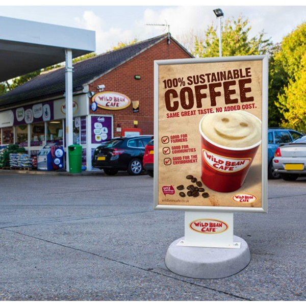 Petrol station forecourt sign