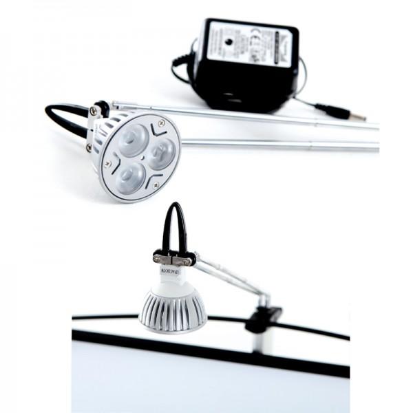 Optional clip on LED light