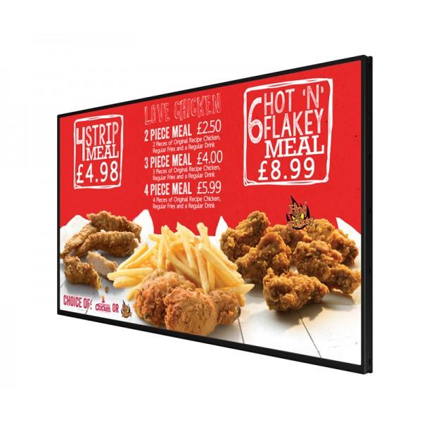 Great for fast food menu display