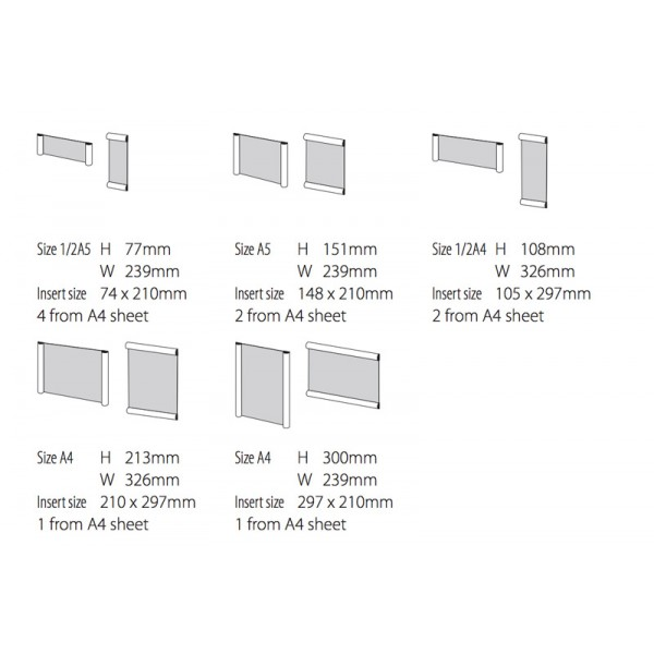 Wall Mounted Office Signage System Dimensions