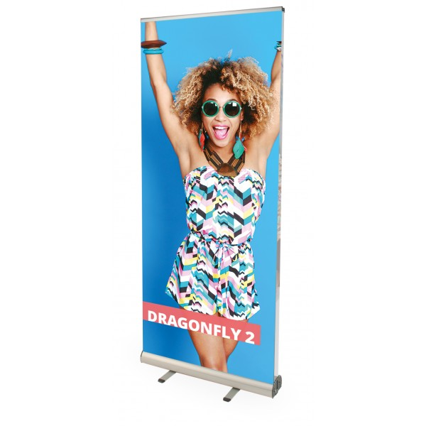 Dragonfly double sided pull up banner stand