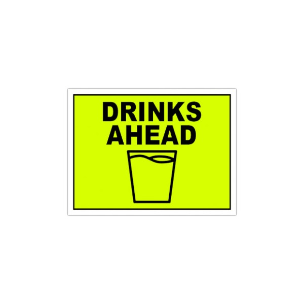 Drinks Ahead Event Signs