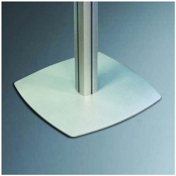 Square steel base on Dynamic Display Stand