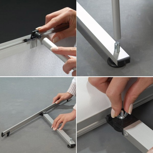 Easy assembly tensioned frame - no tools needed