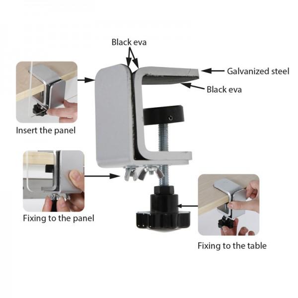 Edge COVID screen clamp