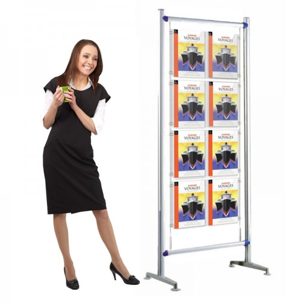 Cable Display Stand 8 A4 pockets