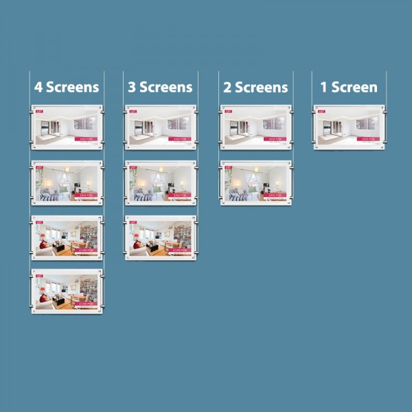 Chocie of digital screen kits available