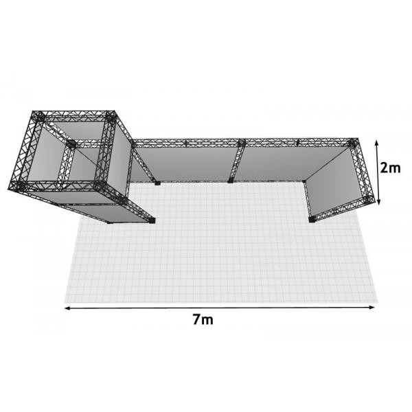 Reconfigurable design. This kit fits a 7m x 2m space