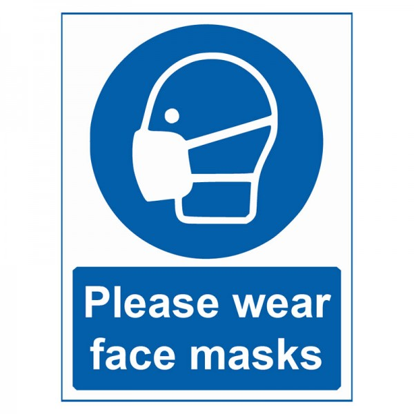 Please Wear Face Masks - Pack of 10 - A2 Poster or Sticker