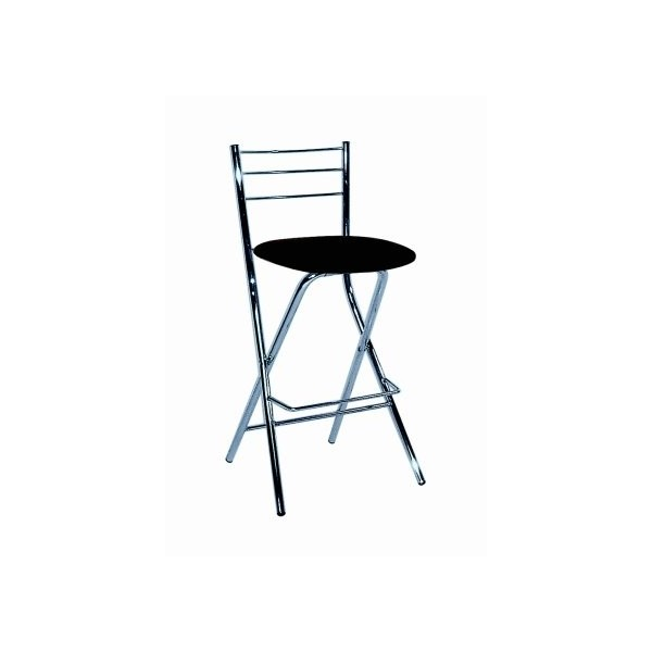 Folding Bar Stools With Black Seat Top