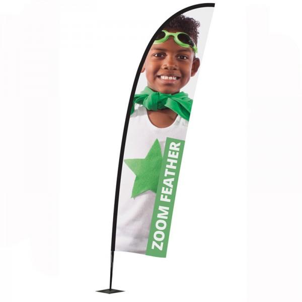 Fibreglass feather flag