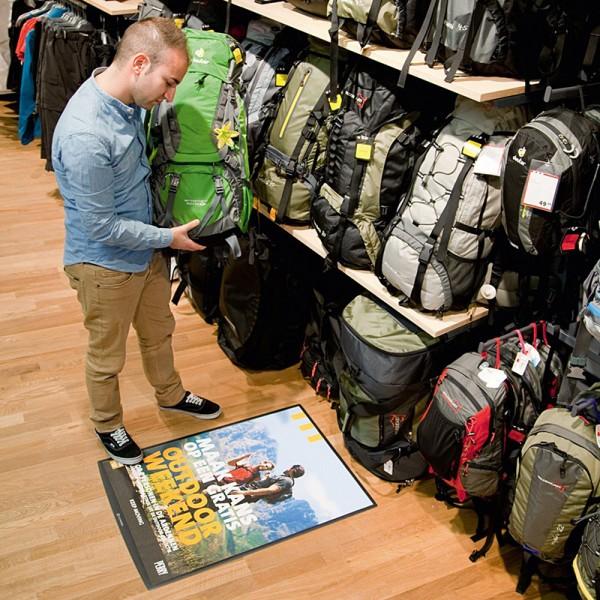 Retail floor poster holder