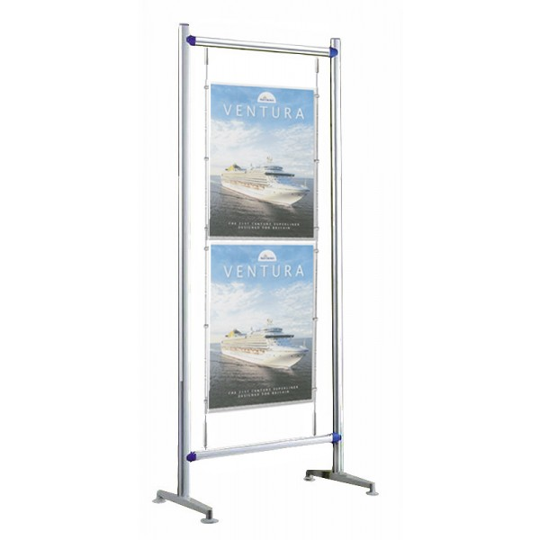 Floor standing A2 poster display - can be used single or double sided
