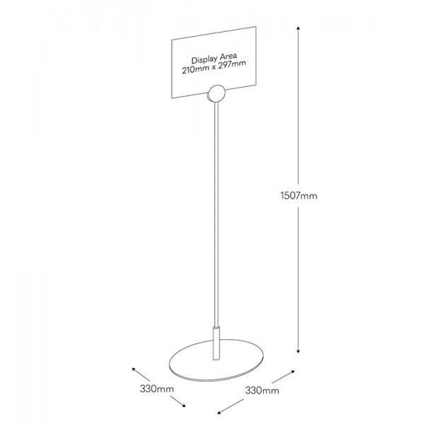 Dimensions Floor of Standing Frameless Poster Sign Holder