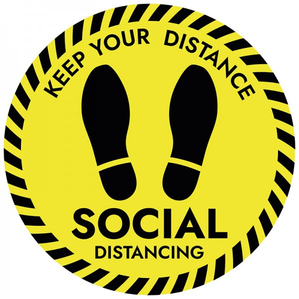 Keep Your Distance Floor Stickers - Pack of 6