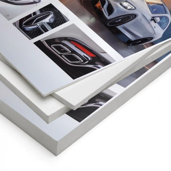 Rigid printed display panels