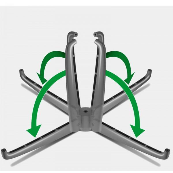 Folding feet on aluminium base