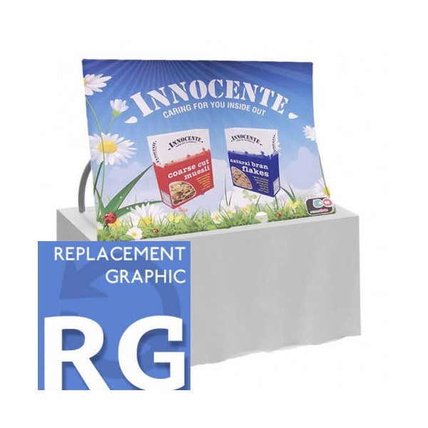 Table top formulate replacement graphic