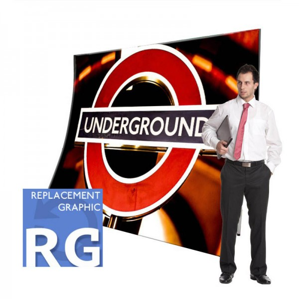 Fabric Stands Replacement Graphics - Vertical