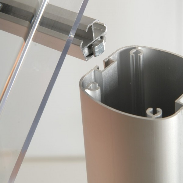 Easy slide on A4 acrylic dispensers