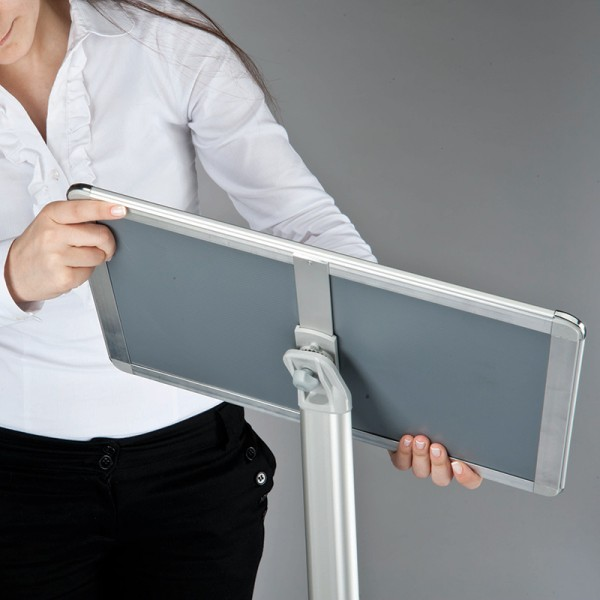 Display stand can be used portrait or landscape