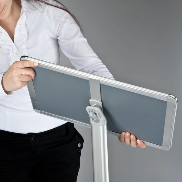 Adjustable holder can be used portrait or landscape