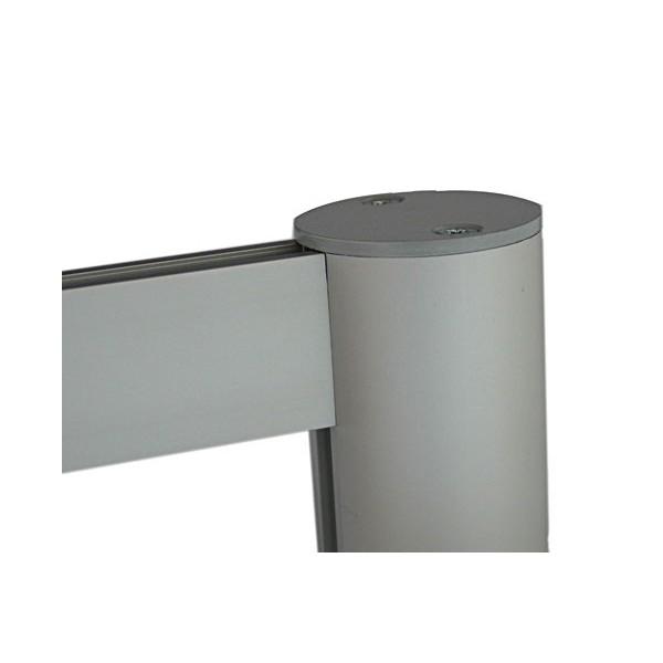 Attractive satin anodised aluminium finish
