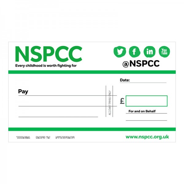 Colour Match Your Logo Or Contact Us To Create A Fully Customised Cheque