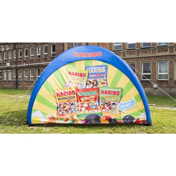 Fully custom printed inflatable tent