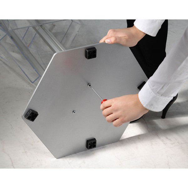 Weighted steel base for stability