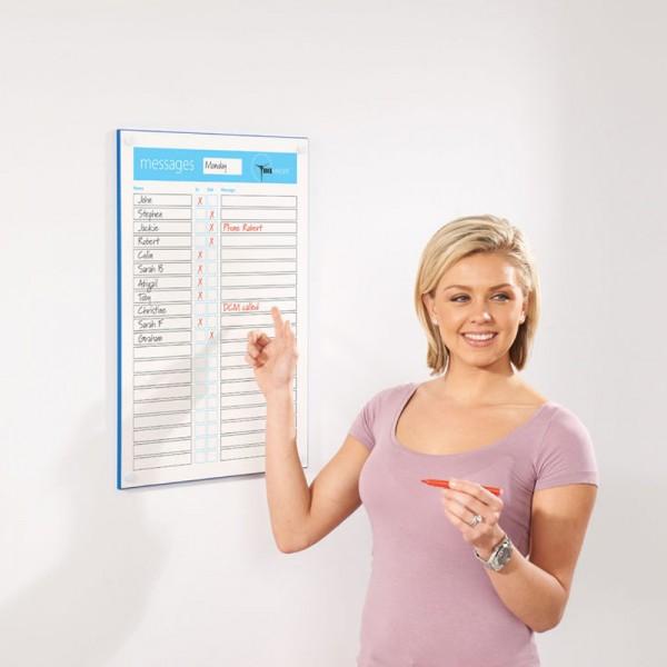 Staff In-Out Board Dry Wipe Message Whiteboard