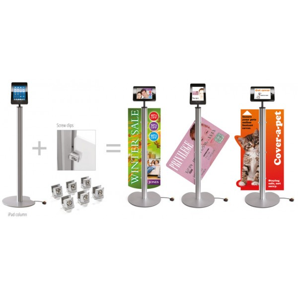 Tablet Display Stand with Custom Printed Graphics